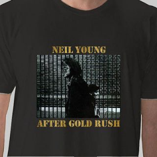NEIL YOUNG T SHIRT after gold rush music vintage tee size S M L XL 2XL
