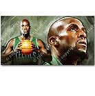KEVIN GARNETT BOSTON CELTICS NBA Basketball Signed Print RARE CANVAS