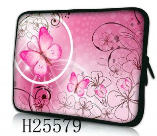 nice pink 12 laptop netbook sleeve case bag cover pouch