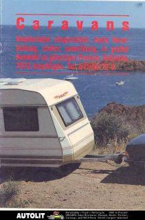 1988 dethleffs nomad travel trailer brochure german