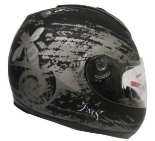 MATTE BLACK HORNET FULL FACE MOTORCYCLE STREET HELMET~M/MEDIUM