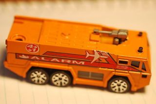 1992 Matchbox Airport Fire Truck Alarm Or​ange #MB233 Or​ange Fire