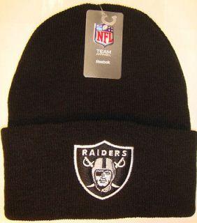 Black Oakland LA Los Angeles Raiders NFL Football Beanie Ski Cap Hat