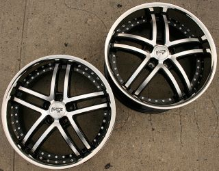 NICHE ESSECSE 20 BLACK RIMS WHEELS NISSAN MAXIMA STAGGERED / 20 X 8.5