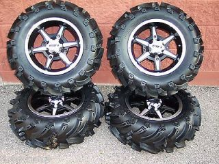 26 HONDA BIG RED MUD TRAX ATV TIRE & 14 B6 WHEEL KIT COMPLETE
