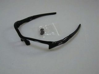 New AUTHENTIC Oakley Flak Jacket Polished Black Frame & Nose Pieces