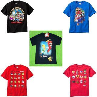 New Boy Super Mario T Shirt Tee Size S8 M10/12 L14/16 XL18