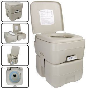 camping 5 gal portable camp toilet camping flush potty time