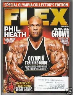 FLEX Bodybuilding Fitness Muscle Magazine Mr Olympia PHIL HEATH 9 12