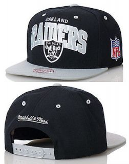 Oakland Raiders Team Arch Snapback Hat by Mitchell & Ness Cap