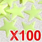 100 x plastic glow in the dark stars baby room