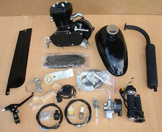 80cc 2 Cycle Engine Motor Kit for Motorized Bicycle Bike Black Body