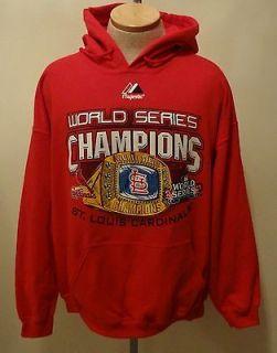 2011 World Series Champions St Louis Cardinals Red Hooded Sweatshirt
