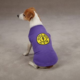 DOG CLOTHES~GOLDS GYM Tank Tops for Dog Body Builder Athlete PURPLE