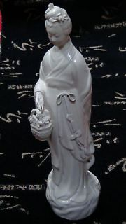 antique china white porcelain quan yin statue 11 time left