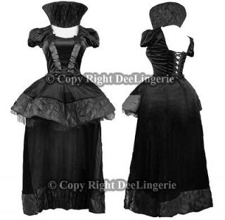 halloween black evil queen costume with matching crown