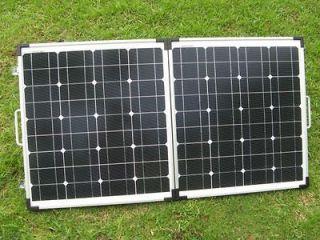 80 Watt Foldable Solar Panel Charger System, module for 12V battery