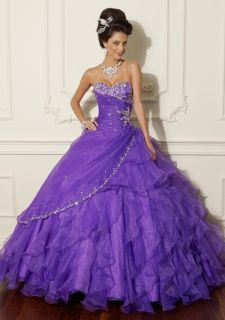 New Purples Quinceanera dresses prom ball party Wedding Size 6 8 10 12
