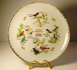 Vintage Souvenir Collector Plate Canadian Songbirds Giftcraft Japan