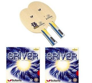 Butterfly Primorac EX Table Tennis blade + 2 piecs Sriver Rubbers