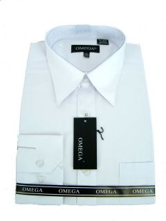 new mens white dress shirt all sizes length