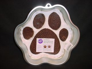Wilton BIG DOG PAW PRINT cake pan mold tin INSERT Animal DAWG bear