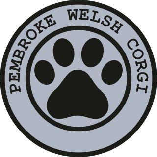 1x PEMBROKE WELSH CORGI PAW PRINT SEAL TRACK FUNNY STICKER DOG PET