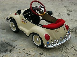 Vintage Bug Pedal Car Refurbished Original BEIGE VW Bug Pedal Car