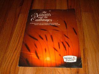 And Earthtones Paint Colors Brochure sample chart BENJAMIN MOORE