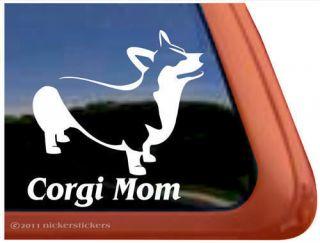 CORGI MOM ~High Quality Pembroke Welsh Corgi Dog Auto Vinyl Window