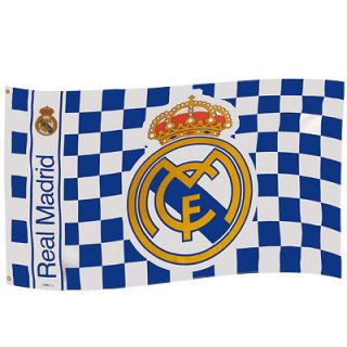 real madrid fc official team flag football soccer club spain