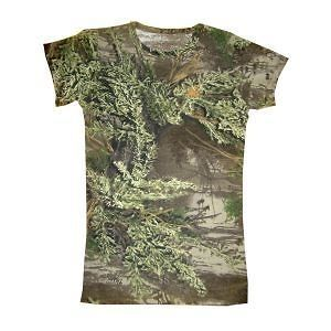 Realtree Girl Camo Max 1 ~ Cotton Fitted Tee ~ Juniors Hunting T Shirt