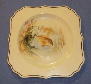 Antique ROYAL DOULTON Hand painted Salad Plate   Snapper Fish D4779
