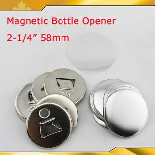 58mm Sticker Magnetic Bottle Opener Button Maker Parts Supplies