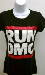 run dmc black womens t shirt sm xl black tshirt