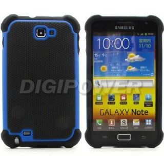 BLUE HEAVY DUTY PROTECTION CASE COVER SKIN FOR SAMSUNG GALAXY NOTE