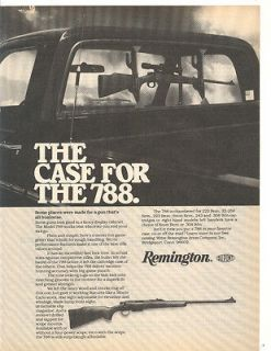 REMINGTON MODEL 788 RIFLE AD ORIGINAL 1979 MAGAZINE AD PICK MUP