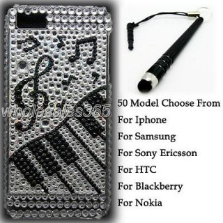 Piano Key Bling Crystal Diamond Rhinestone Case Cover For Samsung Cell