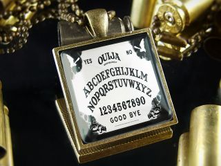 ouija board halloween antique bronze necklace sb 266 time left