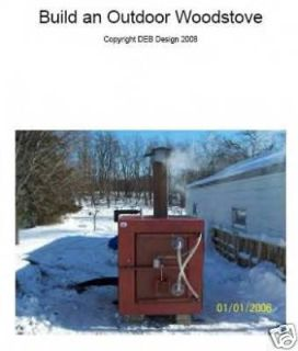 outdoor wood burner boiler furnace 4 plan how to build