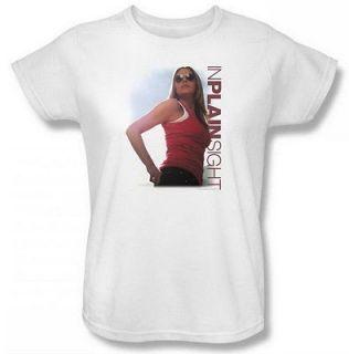 In Plain Sight Us Marshal Shannon Youth White T Shirt NBC187 YT