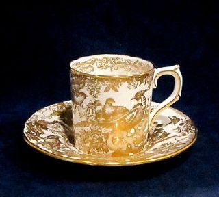 royal crown derby gold aves demitasse cup saucer expedited shipping