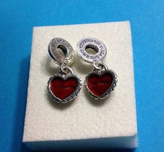Authentic Pandora SS Piece of My Heart Mother/Daughter Bead/Charm
