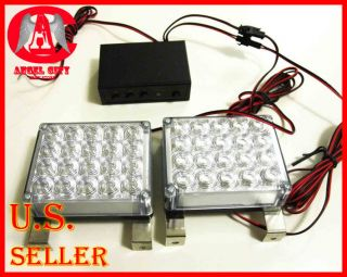 Snow Plow Car Boat Truck Warning Emergency Strobe Lights 3 mode Amber