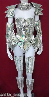 Da NeeNa Robot Vegas Roman Armor Lady Gaga Man Woman Mirror Costume