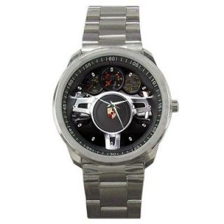 New 2013 Porsche Cayenne Diesel Steering Wheel Sport Metal Watch