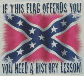 dixie if this flag offends u history lesson rebel shirt