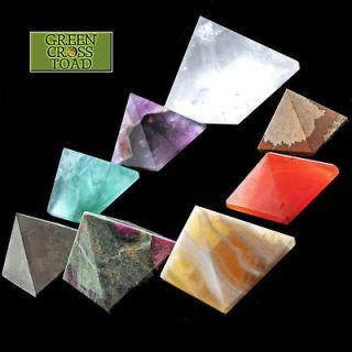Pyramid 20mm 13/16 Inch Crystal Gemstone Healing Orgone Reiki Feng