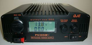 QJE PS30SWV 30 Amp Switching Power Supply with Digital Volt/Amp Meter