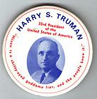 John KENNEDY 1960 pin President TRUMAN attacked Richard NIXON pinback
